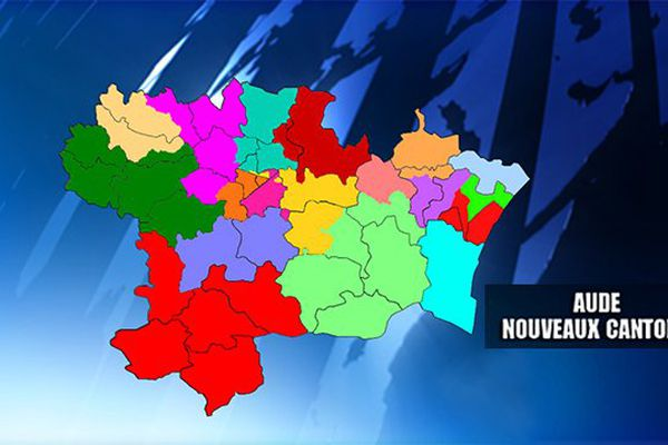 Carte des nouveaux cantons dans l'Aude élections départementales