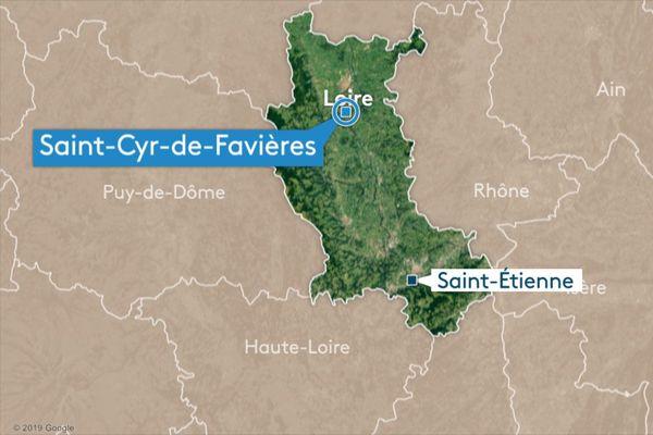 Un accident sur la RN7 s'est produit sur la commune de Saint-Cyr-de-Favières dans le nord du département de la Loire
