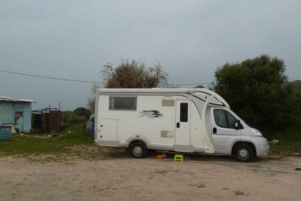 Camping-car de ce couple d'Hazebrouck en attente de rapatriement de Grèce