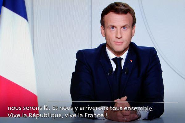 Allocution d'Emmanuel Macron sur l'allègement du confinement, le 24 novembre.