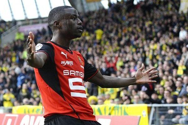 Roland Ntep après son but contre Nantes le 23/02/2014