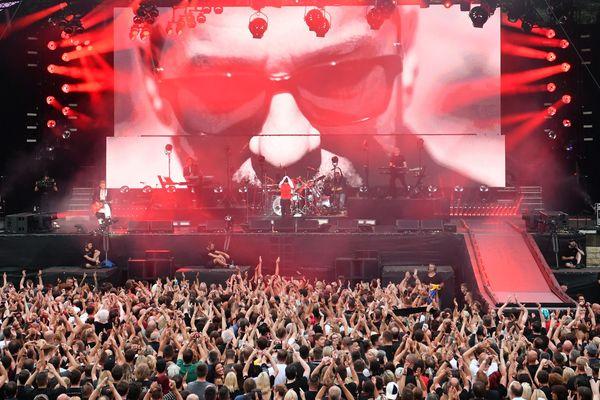 "Concert de Depeche Mode durant sa tournée ""Global Spirit"""