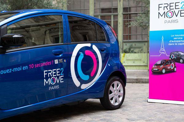Le service d'autopartage Free2Move (PSA) se lance à Paris le 3 décembre 2018.
