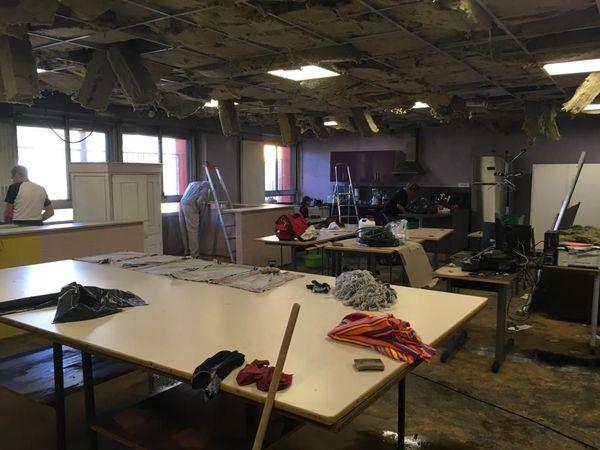 La salle la plus abîmée par l'incendie servait aux élèves de segpa  couture et cuisine. 5/11/2019