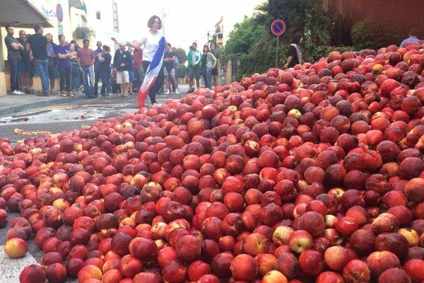 Les arboriculteurs en sont à leur troisième action en un mois - 11/07/2017