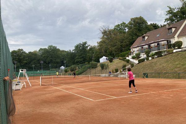 Match entre débutantes à l'occasion du lancement du tournoi des Dianes 2021 à Chantilly, le 4 septembre.