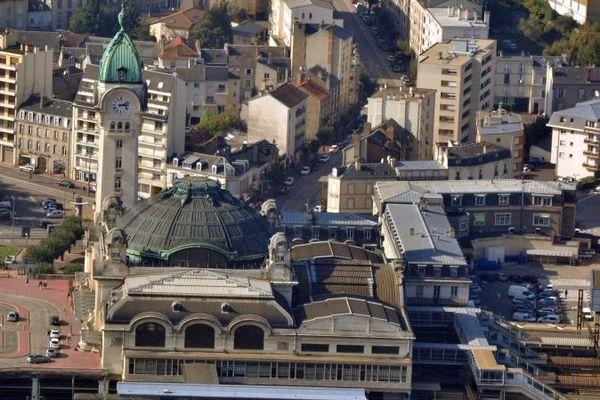 La gare des Bénédictins de Limoges vue du ciel