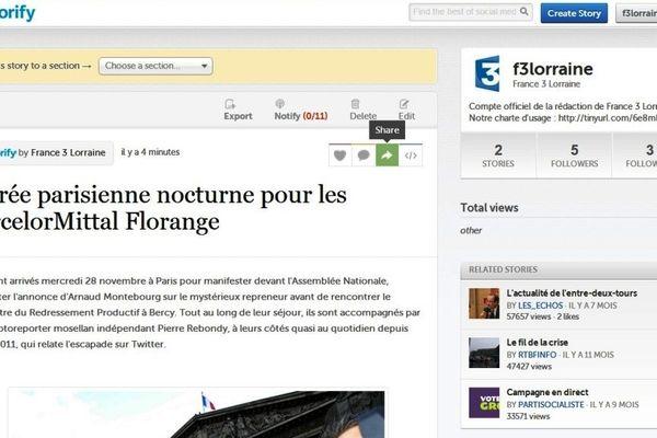 Résumé Storify de la virée nocturne parisienne des ArcelorMittal Florange.