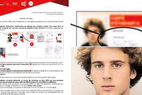 La faculté de Nanterre a diffusé par erreur une photo d'Emmanuel Macron étudiant dans un document officiel.