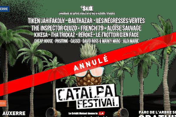 Le Catalpa Festival a annoncé l'annulation de son édition 2020 sur sa page Facebook ce mardi 14 avril.