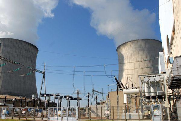 Jeudi 23 janvier 2019, la centrale nucléaire de Saint-Laurent-des-Eaux est filtrée par des opposants à la réforme des retraites.