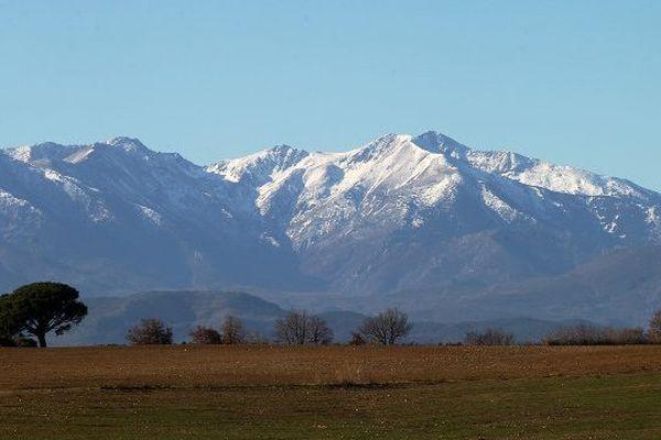 Le massif du Canigou dans les Pyrénées-Orientales