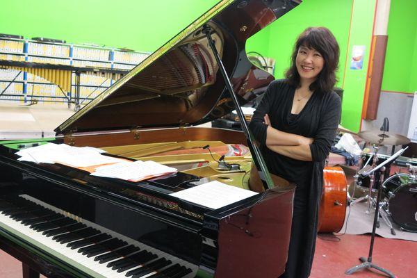 Youn Sun Nah dans la salle de répétition de Jazz sous les pommiers