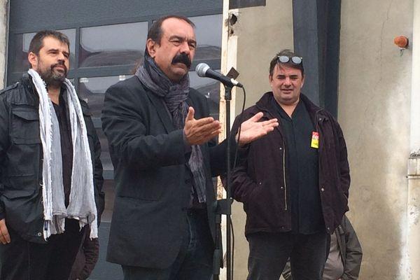 Philippe Martinez, secrétaire général de la CGT à Béziers - 12 octobre 2016