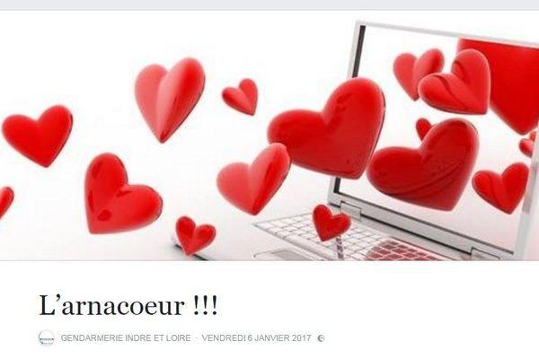 La publication de la gendarmerie d'Indre-et-Loire sur sa page Facebook