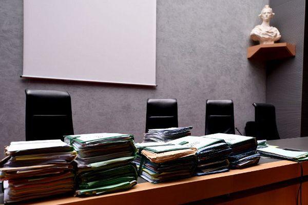 La salle d'audience du tribunal correctionnel de Grenoble.