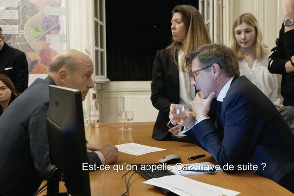Nicolas Florian et Alain Juppé à la mairie