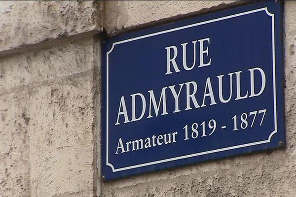 L'une des rues rochelaises nommées d'après un négrier