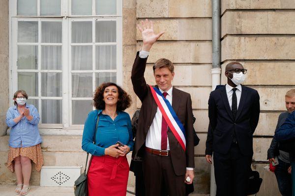 Mathieu Klein, après son élection, place Stanislas