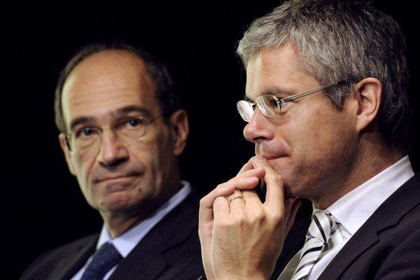 Eric Woerth et Laurent Wauquiez, en octobre 2010.