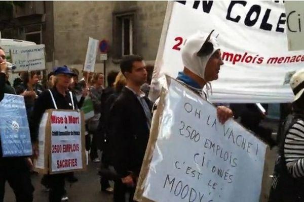 Plus de 100 salariés manifestaient à Nantes mardi