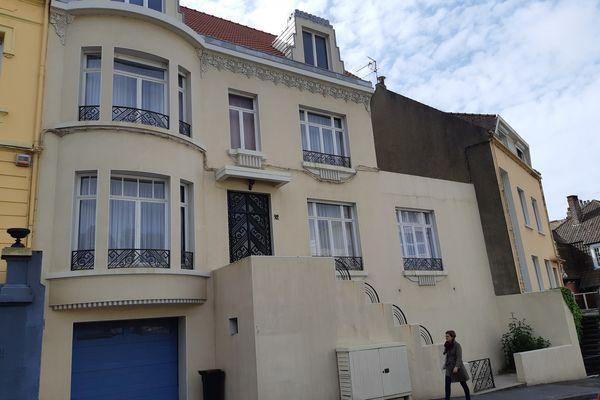 À Boulogne-sur-Mer, 92 rue Beaurepaire, maison Art déco de l'architecte Roland derouet