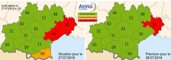 Pollution à l'ozone en Occitanie