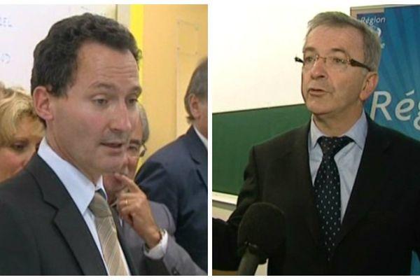 A gauche, Frédéric Thomas, président du Conseil général d'Indre-et-Loire. A droite, François Bonneau, président de la région Centre