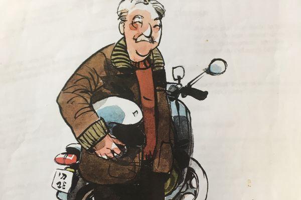 Michel Olmi croqué par le dessinateur Vincent Bailly