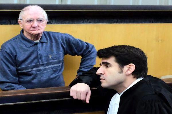 Joachim Toto et son avocat aux assises des Pyrénées-Orientales.