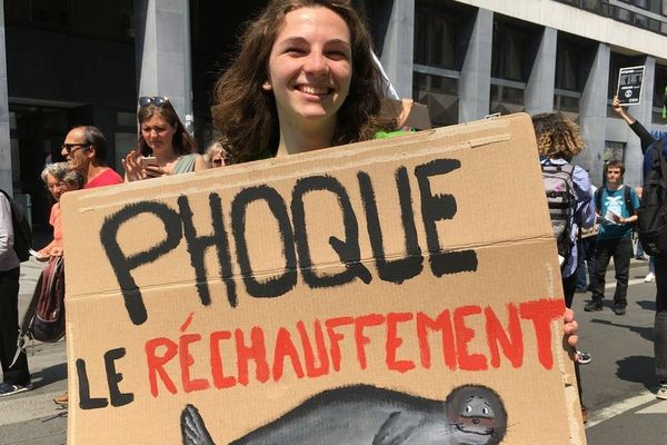 Avec leur pancartes pleines d'humour, les jeunes nordistes ont une nouvelle fois exprimé leur inquiétude sur le réchauffement climatique ce vendredi à Lille