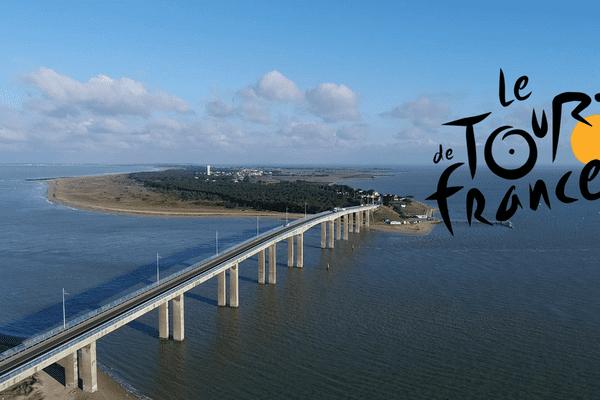Le pont entre l'île de Noirmoutier (Vendée) et le continent