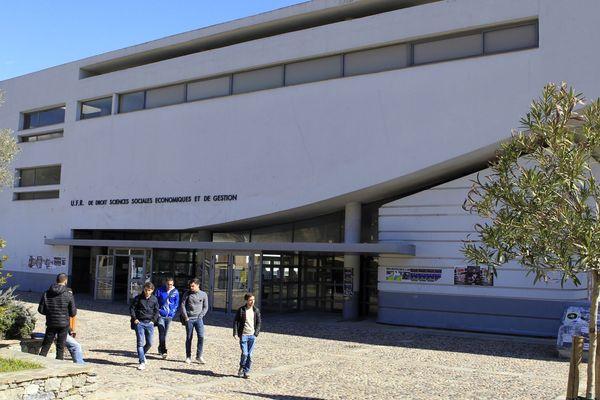 L'Université de Corse Pasquale Paoli, à Corte (Haute-Corse).