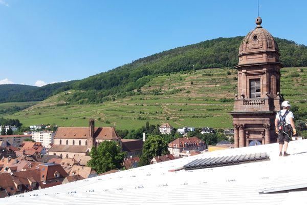 Depuis le haut du parapluie qui recouvre l'église, le panorama est imprenable.