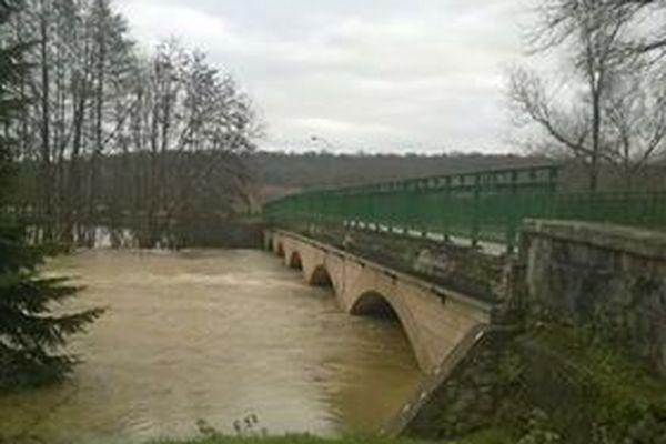 Le pont de la Marne, à Bayard sur Marne, le 23 janvier 2018