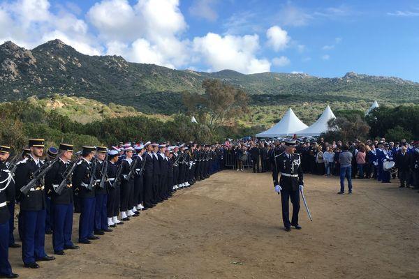 Préparation à Ajaccio, des cérémonies du 11 novembre sur le site de la Parata, où se situe l'une des six bornes de la Terre Sacrée.