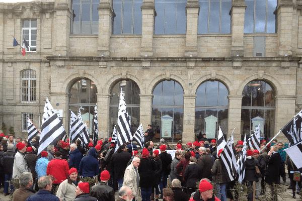 Un rassemblement de Bonnets Rouges à Vannes