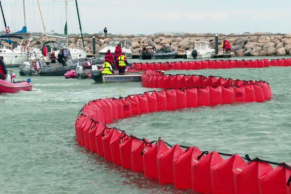 La Grande-Motte (Hérault) - exercice POLMAR de simulation d'une pollution marine à terre - 20 octobre 2021.