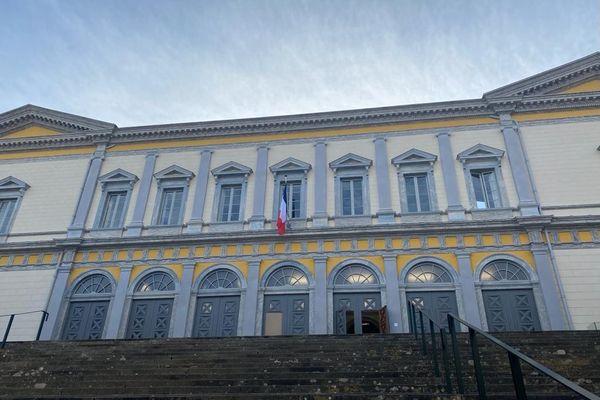 Illustration. Le palais de justice de Bastia.