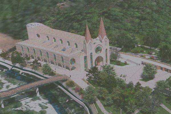 """Les travaux de la basilique à Saint-Pierre-le-Colombier sont suspendus par le préfet de l'Ardèche, mardi 29 septembre, le temps de réaliser une """"étude environnementale approfondie""""."""