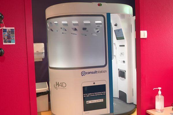 Chaque cabine de téléconsultation médicale coûte 100 000 euros au Département de l'Ain.