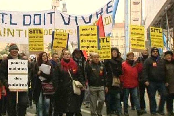 29/11/13 - Une manifestation entre Bellecour et la Préfecture