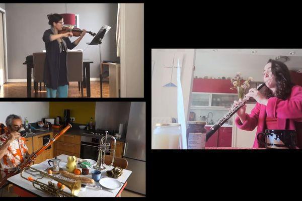 """Dans la foulée de leur premier """"enregistrement confiné"""", une trentaine de musiciens de l'Auditorium-Orchestre national de Lyon a décidé de récidiver avec ... un morceau archi-connu d'un auteur norvégien, si si, c'est possible : """"Au matin"""",d'EdvardGrieg. Avec professionnalisme, et l'humour en plus."""