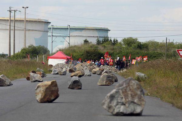 La raffinerie de Donges en Loire-Atlantique bloquée en mai 2016