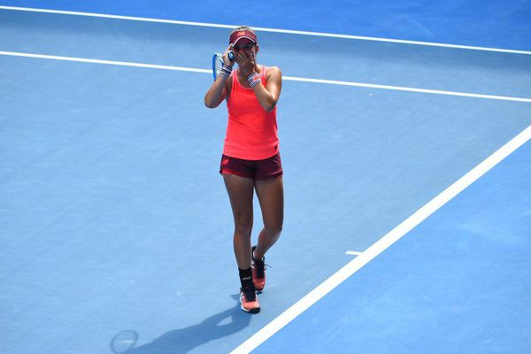 Clara Burel après sa victoire en demi-finale de l'Open d'Australie