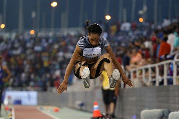 Jeanine Assani-Issouf en compétition à Doha