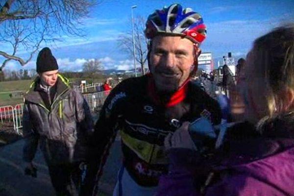 Ludovic Merlier, en Suisse. Il vient alors de remporter son titre de champion du monde de cyclo-cross