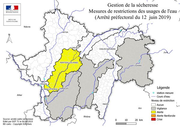 Des restrictions d'eau touchent le sud du département de Saône-et-Loire en prévision d'une sécheresse sévère cet été