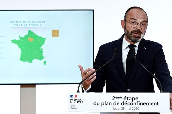 Edouard Philippe et la carte du déconfinement, ce jeudi 28 mai 2020
