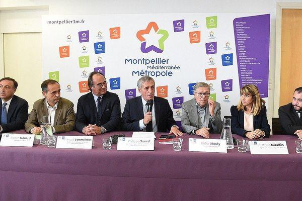Montpellier - conférence de presse d'élus du Languedoc pour la construction de la LNMP - 25 septembre 2017.